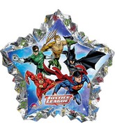 "34"" Jumbo Justice League Shape Balloon Packaged"