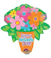 Airfill Only Happy Mother&#39s Day Bright Flowers Balloon