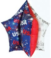 "34"" Jumbo Patriotic USA Star Balloon Packaged"