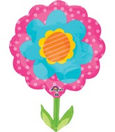 "29"" Jumbo Spring Flower Pink & Blue Balloon Packaged"
