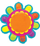 "29"" Jumbo Bright Flower Balloon Packaged"