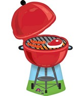 "36"" Jumbo Red Grill Balloon"