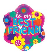 "18"" Junior Shape My Best Friend Balloon"