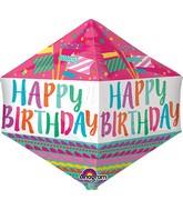 "21"" Jumbo Happy Birthday Fancy Flags Balloon Packaged"