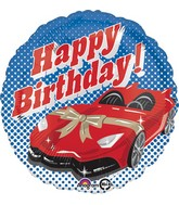 "18"" Happy Birthday Sports Car Balloon"