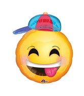 "20"" Happy Emoji with Hat Balloon"