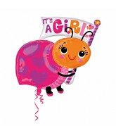 Jumbo It&#39s a Girl Ladybug Balloon