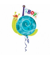 "29"" Jumbo It&#39s a Boy Snail Balloon"