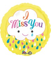"18"" Miss You Cloud Balloon"