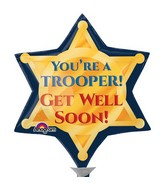 "11"" Airfill Only Trooper Badge Get Well Soon Balloon"