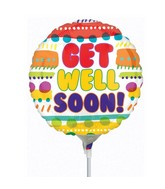 Airfill Only Get Well Soon Fun Patterns Balloon