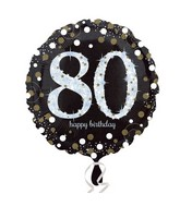 "18"" Sparkling Birthday 80 Balloon"
