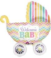 "31"" Jumbo Baby Brights Carriage Balloon"