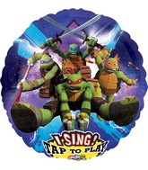 "28"" Singing Balloon TMNT Balloon Packaged"
