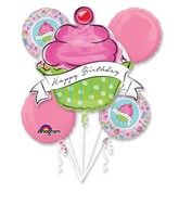 Bouquet Birthday Sweets Balloon Packaged