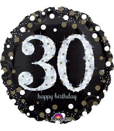 "28"" Jumbo Sparkling Birthday 30 Balloon"