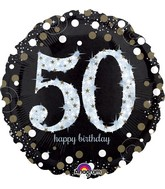 "28"" Jumbo Sparkling Birthday 50 Balloon"