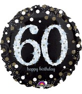 "28"" Jumbo Sparkling Birthday 60 Balloon"