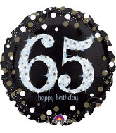 "28"" Jumbo Sparkling Birthday 65 Balloon"