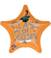 "18"" Class of 2016 - Orange Balloon"