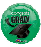 "18"" Congrats Grad Balloon Green"