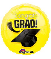 "18"" Congrats Grad Balloon Yellow"