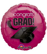 "18"" Congrats Grad Balloon Berry"