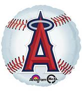 "18"" MLB L.A. Angels of Anaheim Baseball Balloon"