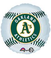 "18"" MLB Oakland Athletics Baseball Balloon"