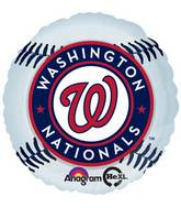 "18"" MLB Washington Nationals Baseball Balloon"