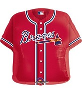 "24"" MLB Atlanta Braves Jersey Balloon"