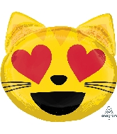 "22"" Emoticon Cat Love Balloon"