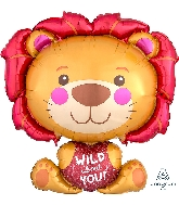 "28"" Wild About You Lion Balloon"