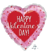 "28"" Happy Valentine's Day Glitter Hearts Balloon"