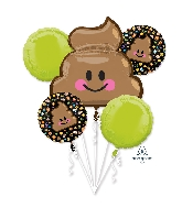 Bouquet LOL Emoticon Balloon Poop