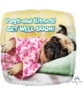 "18"" Avanti Get Well Pugs & Kisses Balloon"