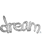 "37"" Freestyle Phrase ""Dream"" Silver Balloon"