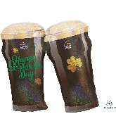 "28"" St. Patty&#39s Beer Glasses Balloon"