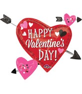 "33"" Three Arrows Happy Valentine's Day Balloon"