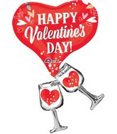 "33"" Cheers Valentine Balloon"