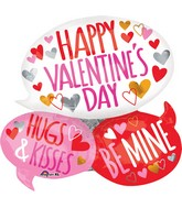 "26"" Happy Valentine's Day Bubbles Balloon"