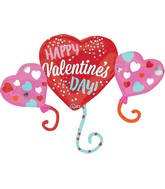 "38"" Happy Valentine&#39s Day Balloon Hearts Balloon"