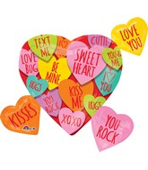 "27"" Hearts with Messages Cluster Balloon"