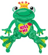 "28"" Airfill Only Sitting Valentine Frog Balloon"
