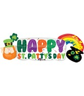 "42"" St. Pat&#39&#39s Pot of Gold Banner Balloon"
