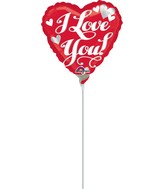 "9"" Airfill Only Love White Script Balloon"