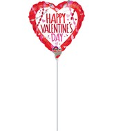 "4"" Airfill Only Happy Valentine&#39s Day Streamers & Confetti"