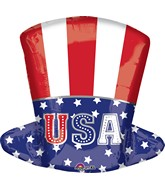 "18"" Junior Shape Uncle Sam Top Hat Balloon"