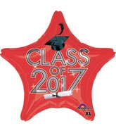 "18"" Class of 2017 - Red Balloon"