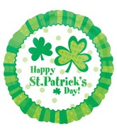 "18"" Lucky Wishes St. Patrick Day Balloon"